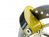 XENA 6mm żółta zapięcie tarczy z alarmem